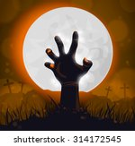 halloween background  poster... | Shutterstock .eps vector #314172545