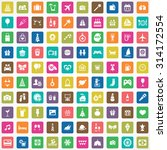 holiday 100 icons universal set ... | Shutterstock . vector #314172554