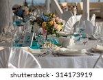 elegance table set up for... | Shutterstock . vector #314173919