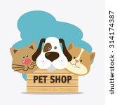 pet shop design  vector... | Shutterstock .eps vector #314174387