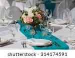elegance table set up for... | Shutterstock . vector #314174591