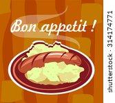bon appetit  | Shutterstock .eps vector #314174771