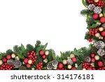christmas background border... | Shutterstock . vector #314176181
