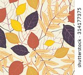 seamless pattern with leaf ... | Shutterstock .eps vector #314177375
