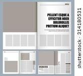 modern magazine layout template  | Shutterstock .eps vector #314180531