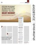 modern layout magazine page... | Shutterstock .eps vector #314180549