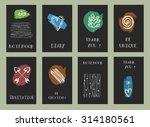 set of  modern hipster trendy ... | Shutterstock .eps vector #314180561
