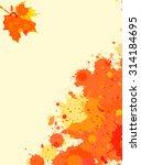 bright orange watercolor paint... | Shutterstock .eps vector #314184695
