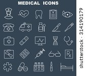 medical icons set   | Shutterstock .eps vector #314190179