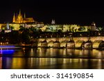 prague  czech republic. night... | Shutterstock . vector #314190854