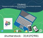 flat vector design concept... | Shutterstock .eps vector #314192981
