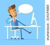handsome manager in formal suit ... | Shutterstock .eps vector #314195885