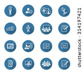 business coaching icon set.... | Shutterstock .eps vector #314197421