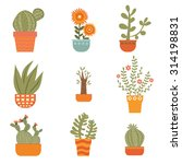 beautiful set of hand drawn... | Shutterstock .eps vector #314198831
