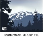 panorama of mountains.... | Shutterstock .eps vector #314204441