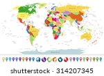 highly detailed political world ... | Shutterstock .eps vector #314207345