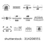 vintage photography badges ... | Shutterstock .eps vector #314208551