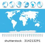 detailed world map with a 3d... | Shutterstock .eps vector #314213291