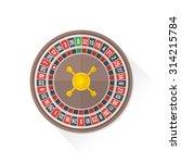 vector gambling casino roulette ... | Shutterstock .eps vector #314215784