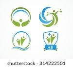 holistic logo design | Shutterstock .eps vector #314222501