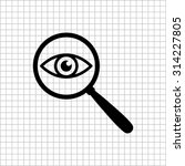 Eye In Magnification   Vector...