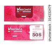 gift voucher brush style | Shutterstock .eps vector #314232479