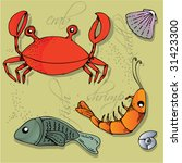 seafood vector elements