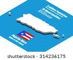 puerto rico map vector three... | Shutterstock .eps vector #314236175