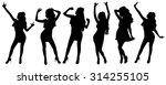 young girls dancing