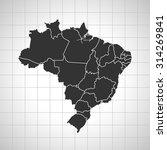 map of brazil | Shutterstock .eps vector #314269841