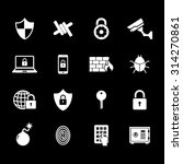 set of security icon.... | Shutterstock .eps vector #314270861