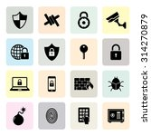 set of security icon.... | Shutterstock .eps vector #314270879