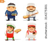 cooking professions set | Shutterstock .eps vector #314275301
