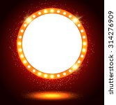abstract shining retro light... | Shutterstock .eps vector #314276909