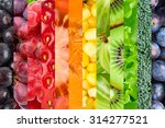 collage with fruits and... | Shutterstock . vector #314277521