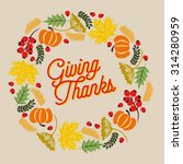 giving thanks card with a... | Shutterstock .eps vector #314280959