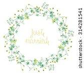 Wreath  Frame  Of Wildflowers...