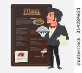 waiter. character design.... | Shutterstock .eps vector #314284631