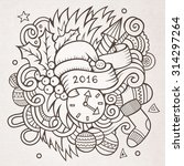 2016 new year doodles elements...   Shutterstock .eps vector #314297264