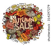 autumn sale hand lettering and... | Shutterstock .eps vector #314297279
