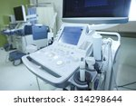 medical ultrasound machine with ... | Shutterstock . vector #314298644