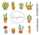 beautiful set of hand drawn...   Shutterstock .eps vector #314300759