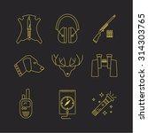 hunting icons line set. modern...   Shutterstock .eps vector #314303765