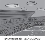 soccer stadium vector... | Shutterstock .eps vector #314306939