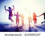 friendship freedom beach summer ... | Shutterstock . vector #314309147