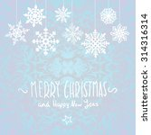 merry christmas card with... | Shutterstock . vector #314316314