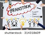 brainstorming thinking support... | Shutterstock . vector #314318609