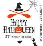 halloween card invitation.... | Shutterstock .eps vector #314328347