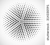 abstract dotted radial vector... | Shutterstock .eps vector #314330591