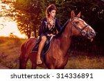 beautiful young fashion model... | Shutterstock . vector #314336891
